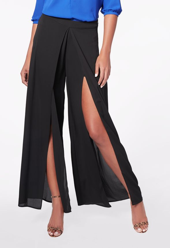 171e1267708 Double Layer Palazzo Pant in Black - Get great deals at JustFab