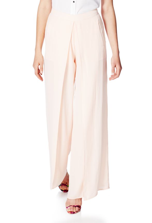 9a45d93db41 Double Layer Palazzo Pant in Blush - Get great deals at JustFab
