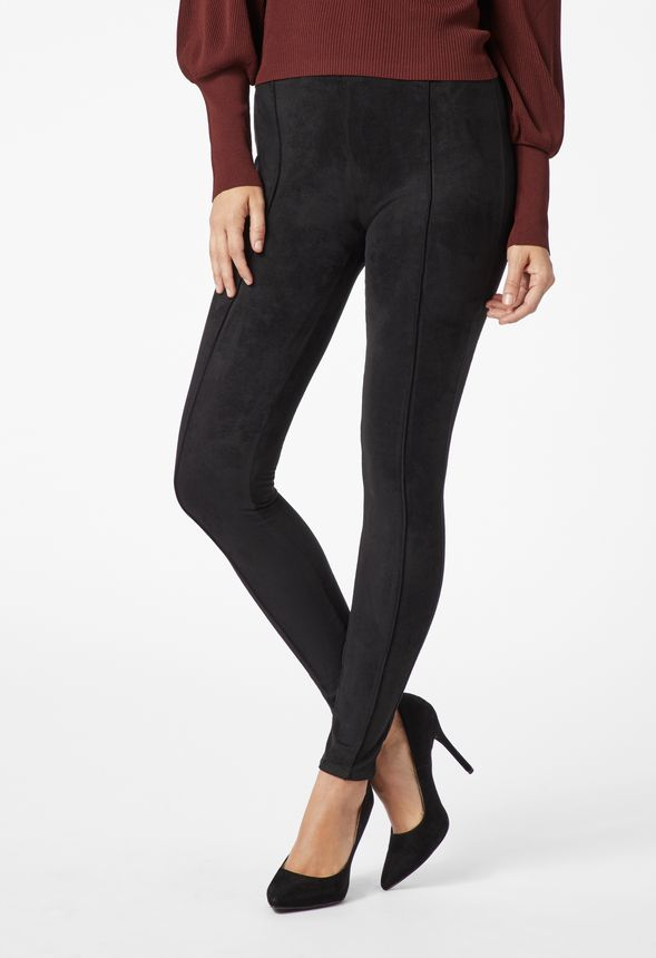 6bc38f8055166 Faux Suede Leggings in Black - Get great deals at JustFab