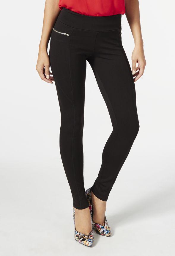 e95ff958011d2 Zipper Pocket Legging in Black - Get great deals at JustFab