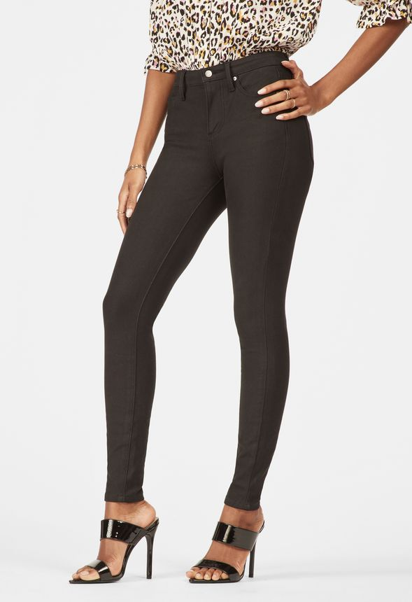 b5fad8c549d High Waisted Jeggings in Black - Get great deals at JustFab