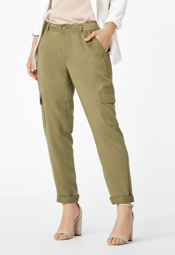 4d068f9b49 Cropped Cargo Pants in Olive - Get great deals at JustFab