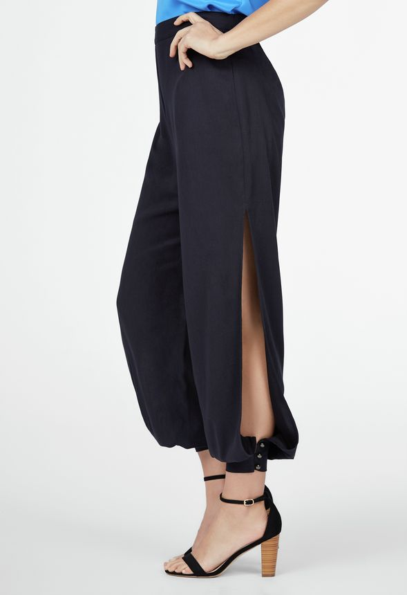 beedf48d6e25e Side Slit Pant in Black - Get great deals at JustFab
