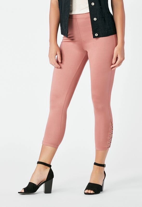 703ecd3ea8691d Capri Leggings in Pink Mauve - Get great deals at JustFab