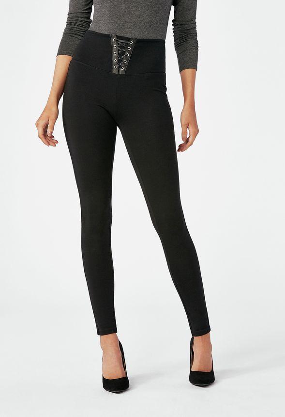 c182362cc5e2a Corset Leggings in Black - Get great deals at JustFab
