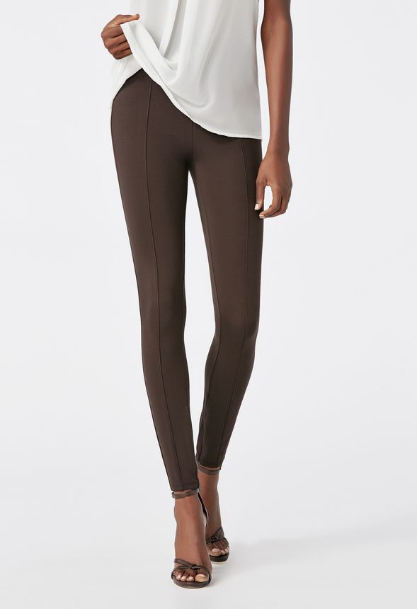 0b66b66e85e07 High Waisted Seamed Leggings in Dark Espresso - Get great deals at JustFab