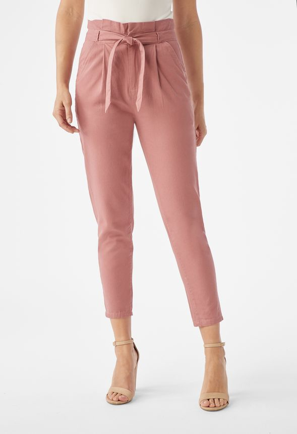 7f11d1a9a9 Paperbag Chino Pants in Pink Mauve - Get great deals at JustFab