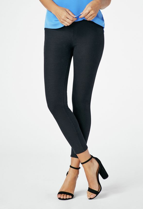 03bdd7e80c6319 Cropped Pull-On Jeggings in Black - Get great deals at JustFab