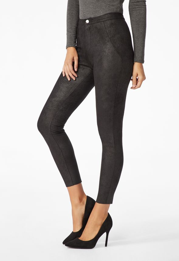 d6a7f5b3d5dd9 Sueded Faux Leather Pants in Black - Get great deals at JustFab