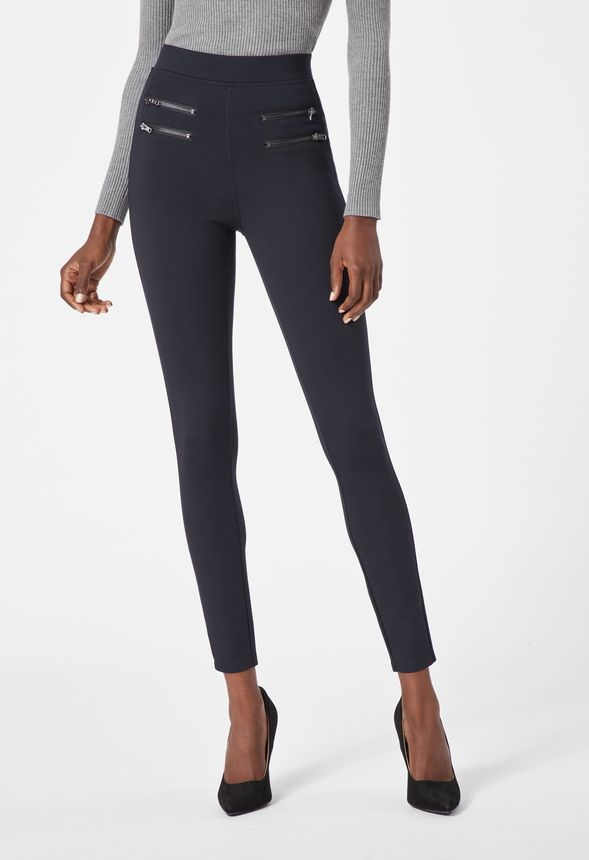 55aace321e41a Highwaisted Zipper Leggings in Black - Get great deals at JustFab