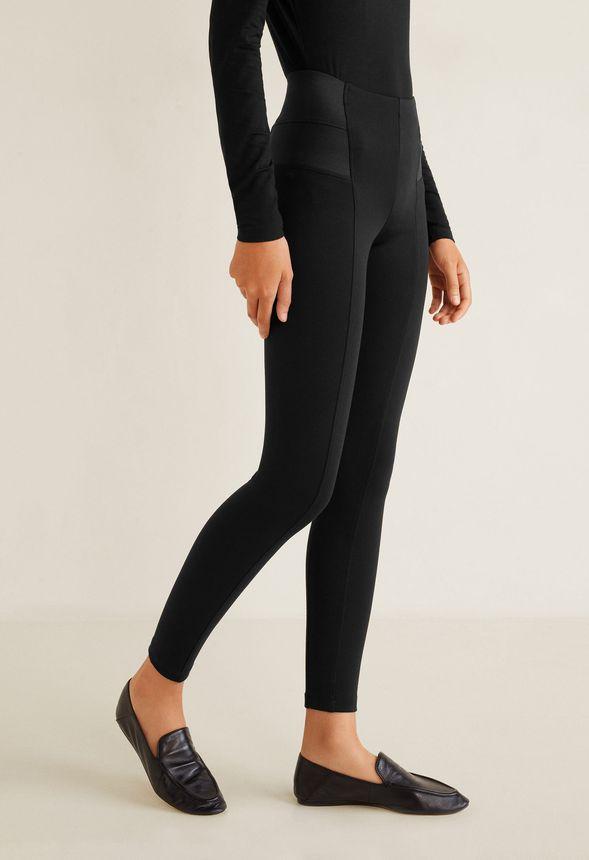 565cad8388e5b Elastic Waist Seamed Legging in Black - Get great deals at JustFab