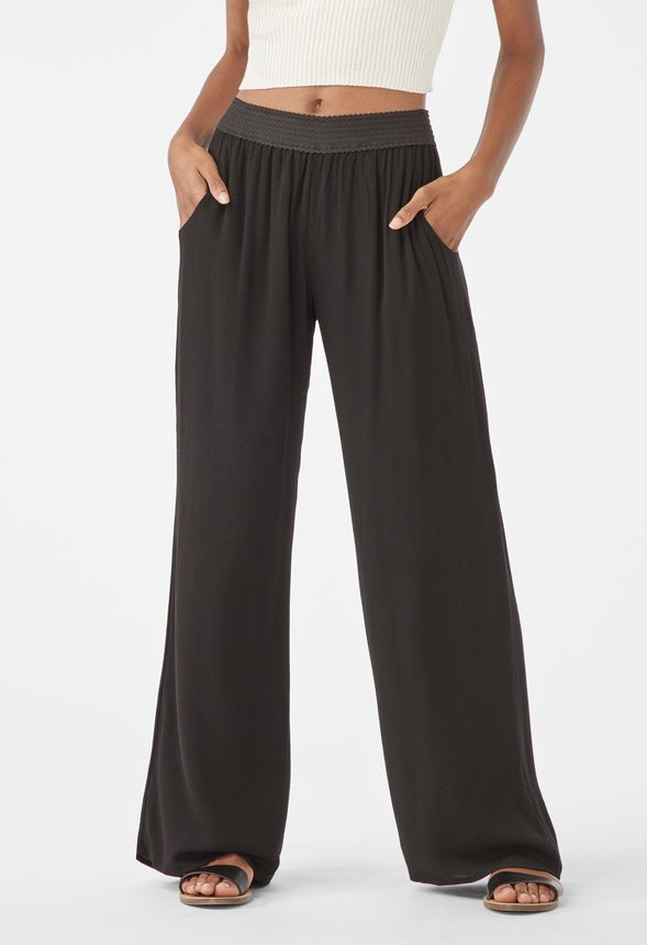 8543aedc0d Gauze Beach Pants in Black - Get great deals at JustFab