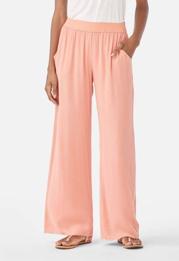 225be0da67 Gauze Beach Pants in Coral - Get great deals at JustFab