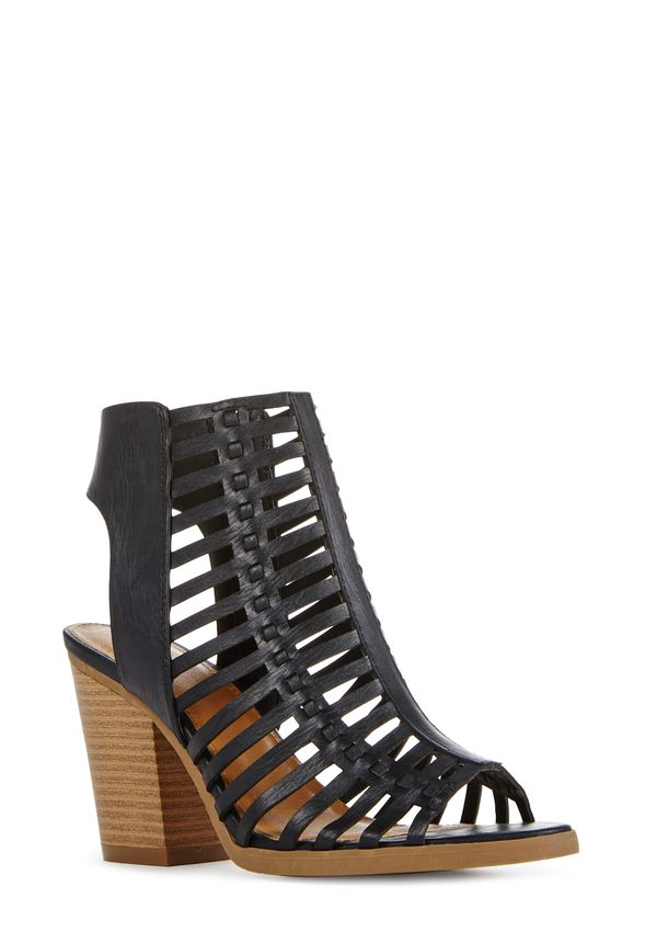 """JustFab /""""Fairlyn/"""" strappy cutout upper with a mid-height block heel"""