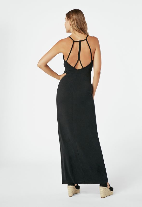 78d47678799c Strappy Back Maxi Dress in Black - Get great deals at JustFab