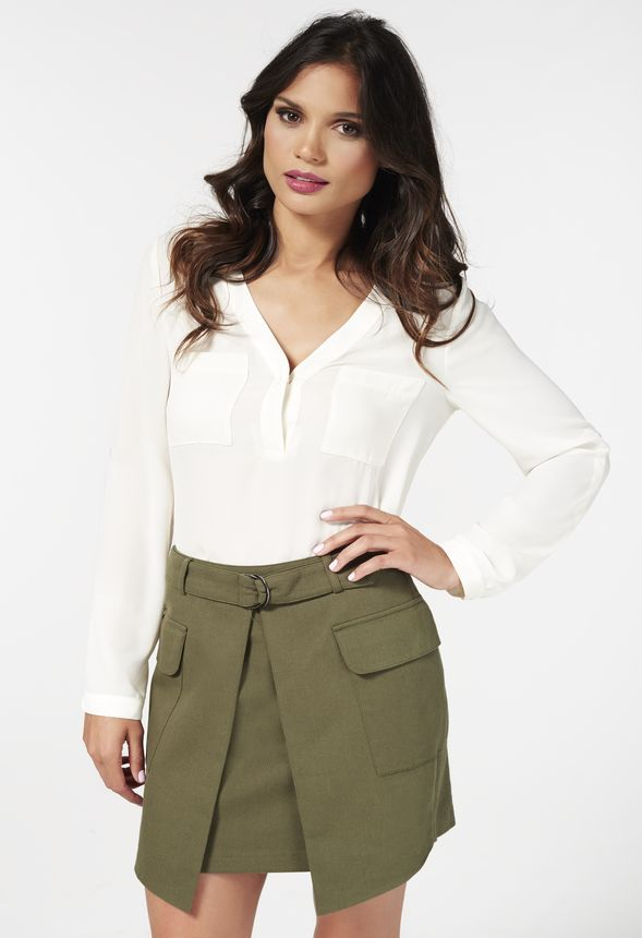 0c4770857a Cargo Skirt in Dark Olive - Get great deals at JustFab