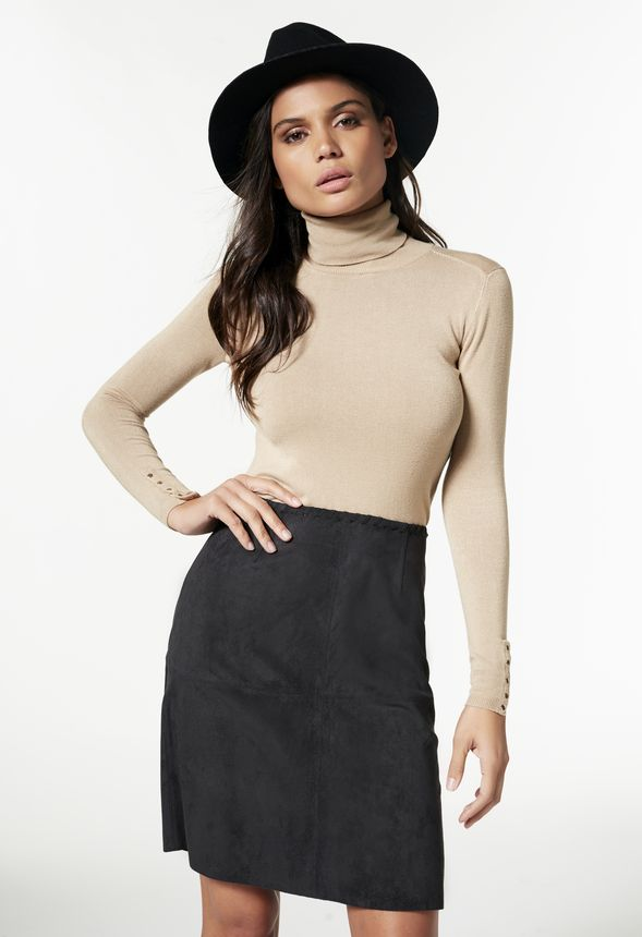 93dc83012 Faux Suede Skirt in Black - Get great deals at JustFab