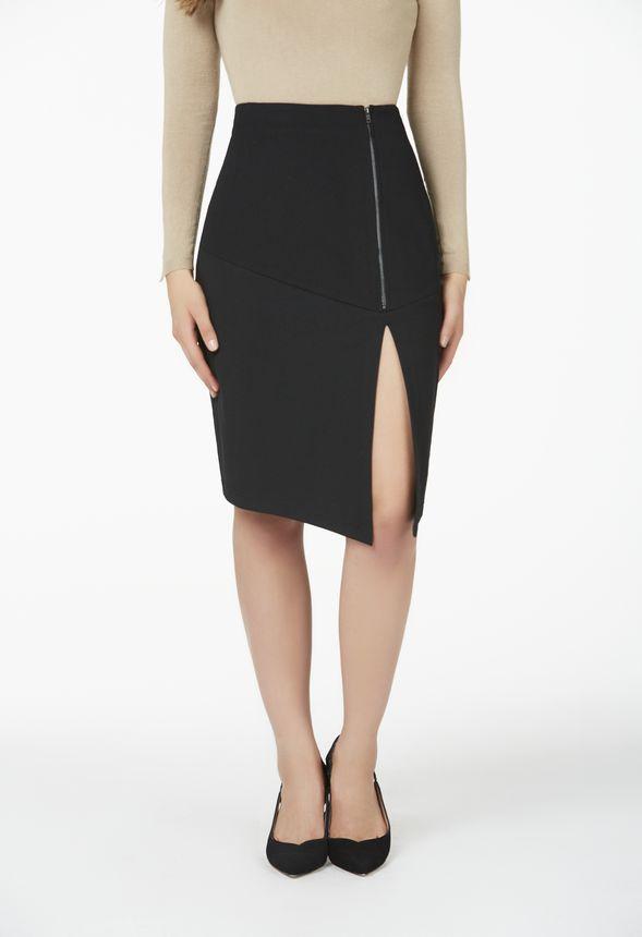 0dc38aaf45 Side Zip Midi Pencil Skirt in Black - Get great deals at JustFab
