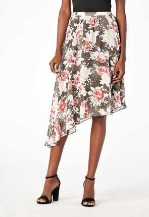effcfc1040 Printed Asymmetrical Skirt Printed Asymmetrical Skirt