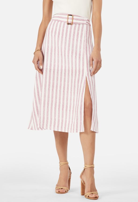 5deecff831f Linen Midi Skirt in MESA ROSE MULTI - Get great deals at JustFab