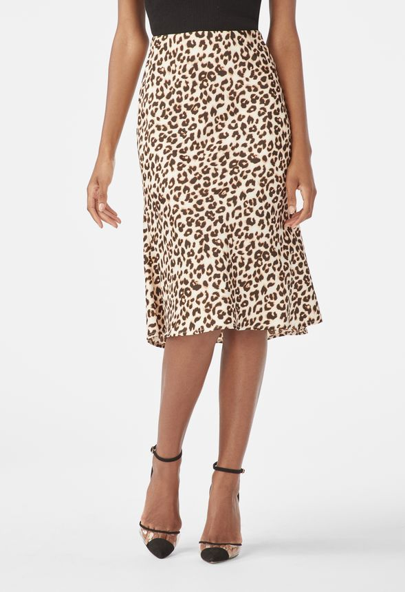 417f4a3fcfd7 Animal Print Midi Skirt in Black Multi - Get great deals at JustFab