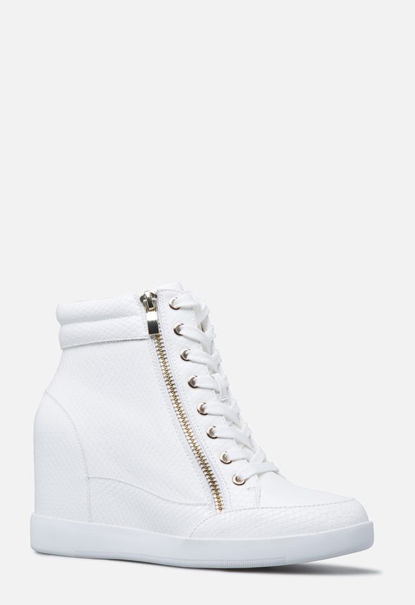 e4ea055dad54 Shanta Wedge Sneaker in WHITE MULTI - Get great deals at JustFab