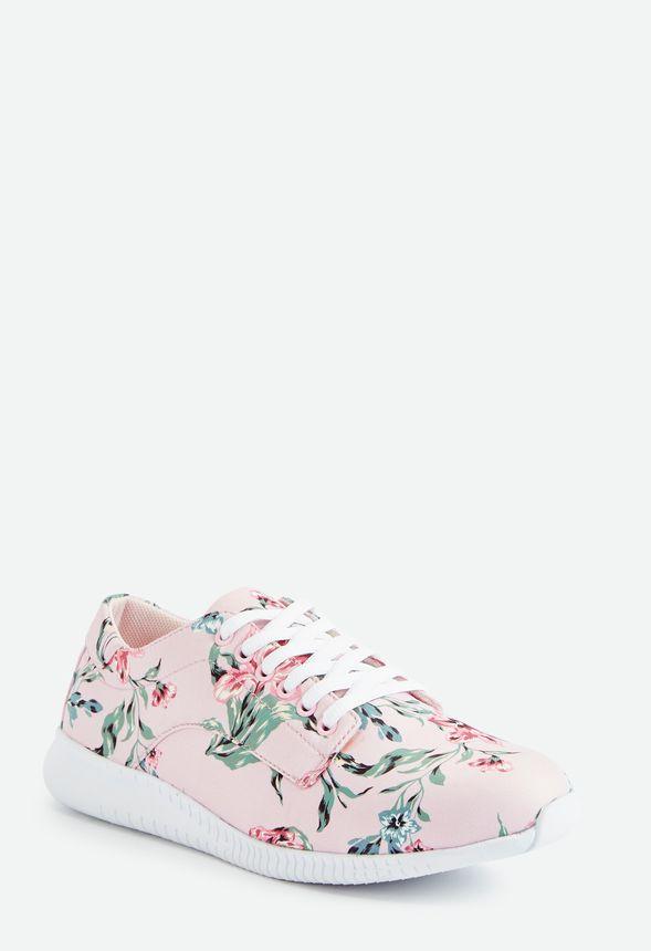 Fleur Real Floral Print Sneaker in