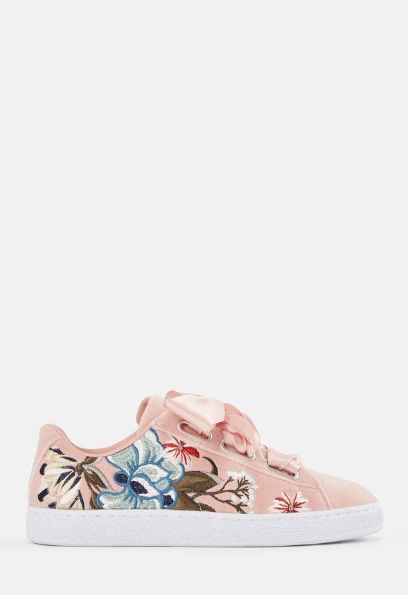 save off 7dc5d ea7e2 Puma Basket Heart Hyper Emb Sneaker in Blush Floral - Get ...
