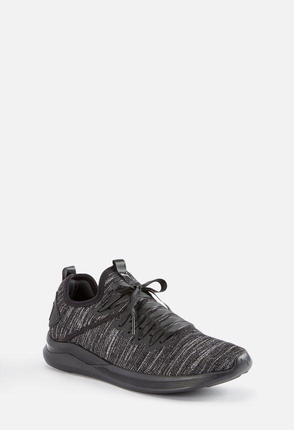 san francisco 9f428 3e9f9 Puma Ignite Flash Evoknit Satin Ep Sneaker in Black - Get ...