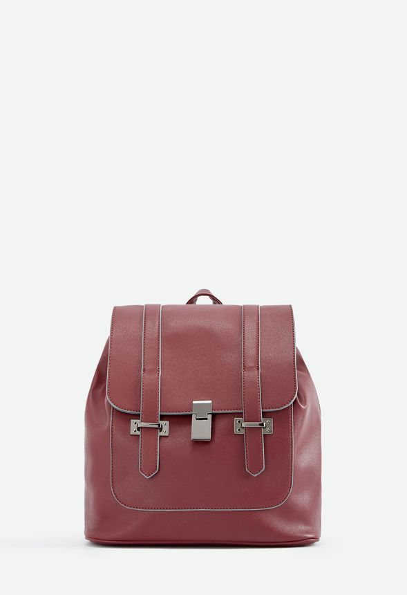 Always Cool Backpack in Burgundy - Get great deals at JustFab c9b1612416a55