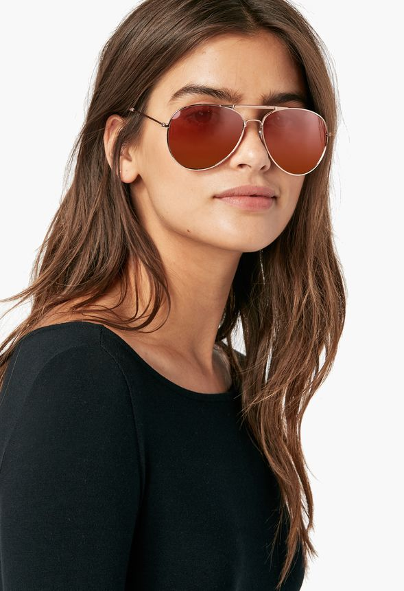 4ee22bd07d3 Maverick Aviators Sunglasses Accessories in Rose Gold - Get great deals at  JustFab