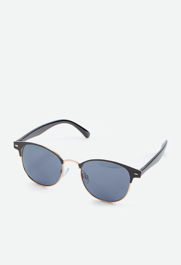 b55fc8a3da5 Made In The Shade Sunglasses Accessories in Black Gold - Get great deals at  JustFab