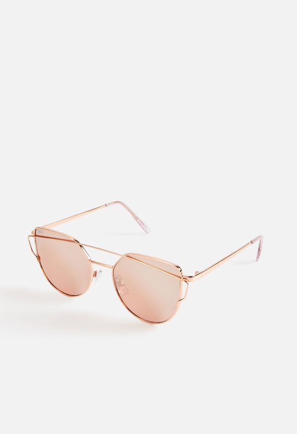 54b7e6601ed Summer Day Sunglasses Accessories in Rose Gold - Get great deals at JustFab