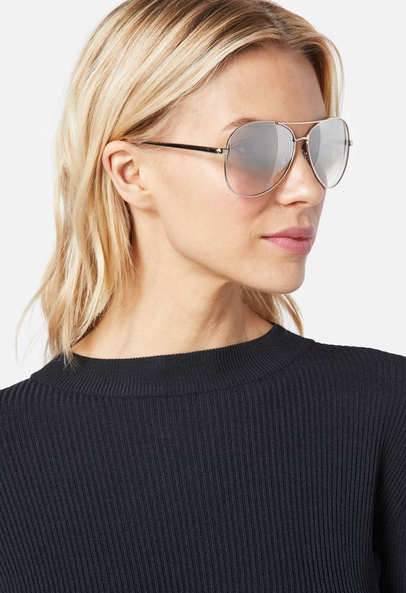 e22f4e74d87 Sunrise Aviator Sunglasses Accessories in mirrored - Get great deals at  JustFab