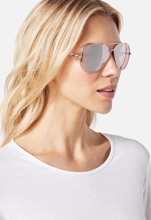 a6c1da860d6 Sunrise Aviator Sunglasses Accessories in Rose Gold - Get great deals at  JustFab