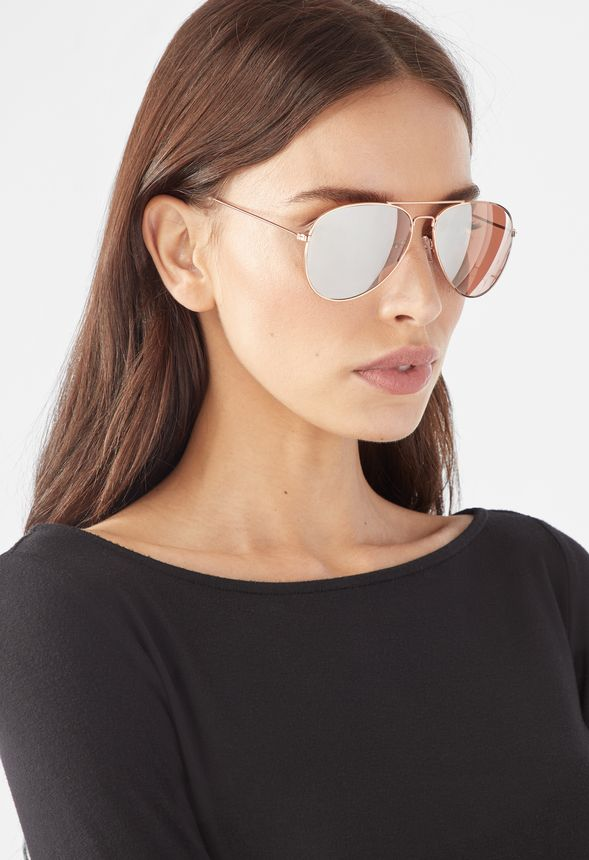 a876eeb48ea Looking Good Sunglasses in Rose Gold - Get great deals at JustFab