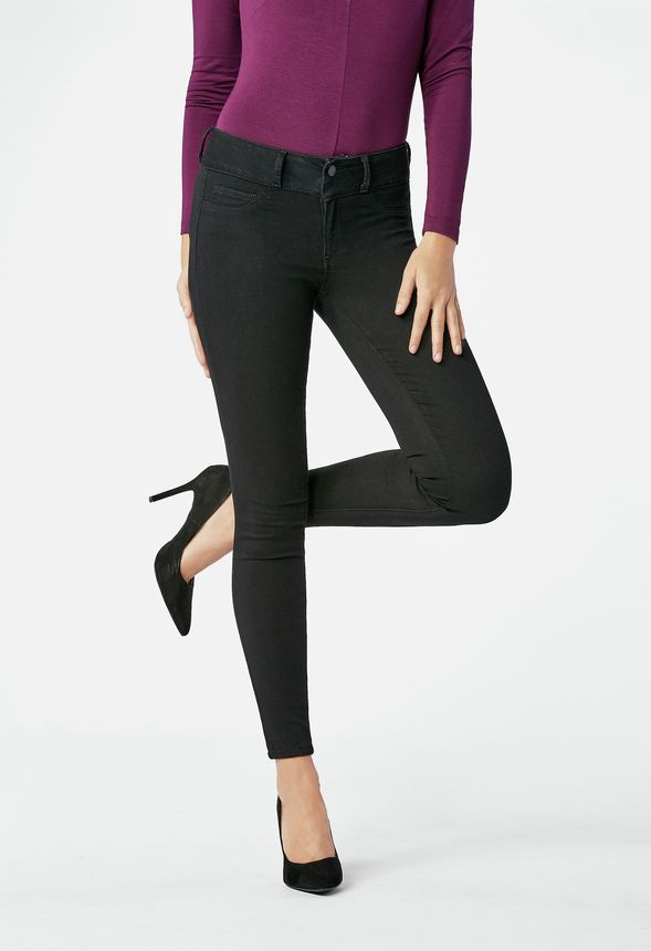 68fe44795e80f Ultra Soft Booty Lifter Skinny Jeans in Black - Get great deals at JustFab
