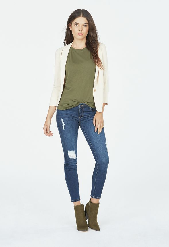 9ee3f3fb383 Distressed Signature Skinny in roman dusk - Get great deals at JustFab