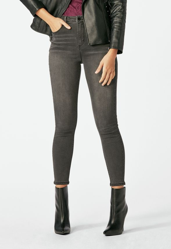 discount collection shoes for cheap shop for authentic Ultra High Rise Skinny Jeans in Grey Dusk - Get great deals ...