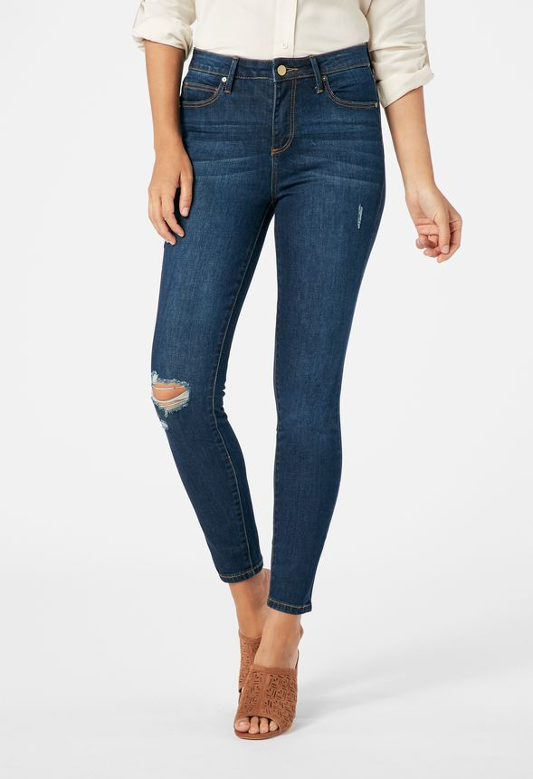 587e8e6c0c Distressed High Waisted Skinny Jeans in blue diamond - Get great deals at  JustFab
