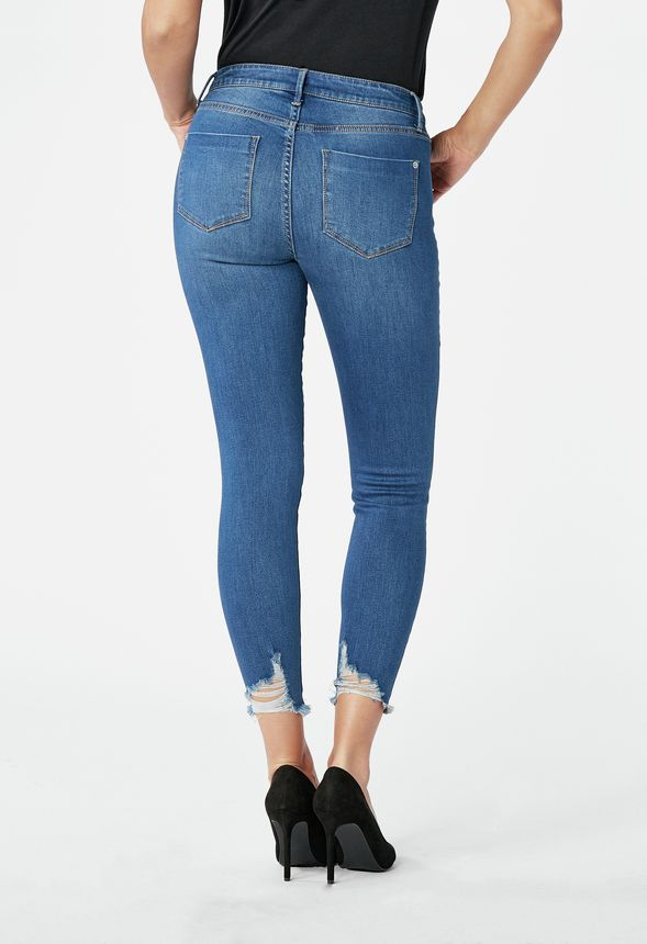 High Waisted Ankle Grazer Jeans in SF Blue - Get great deals