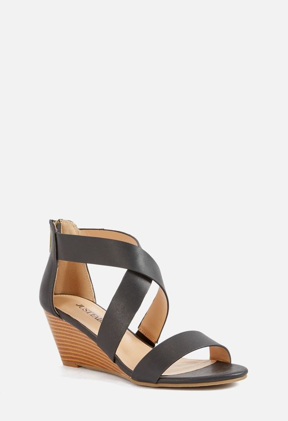 59f714b49f Eden Mid Heel Wedge in Black - Get great deals at JustFab