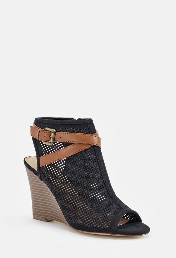 e465bf320f32 Tandy Wedge in Black - Get great deals at JustFab