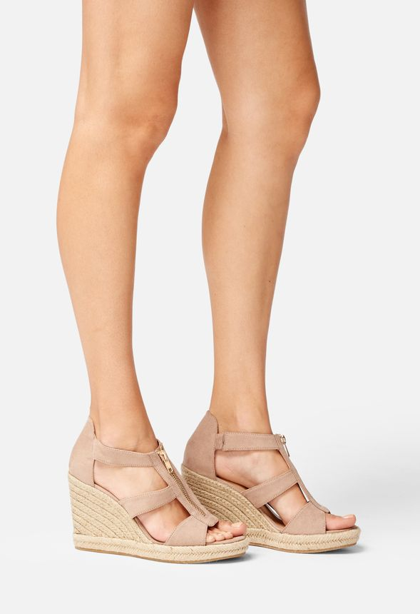 ebcbe1853de Karsey Wedge in Taupe - Get great deals at JustFab