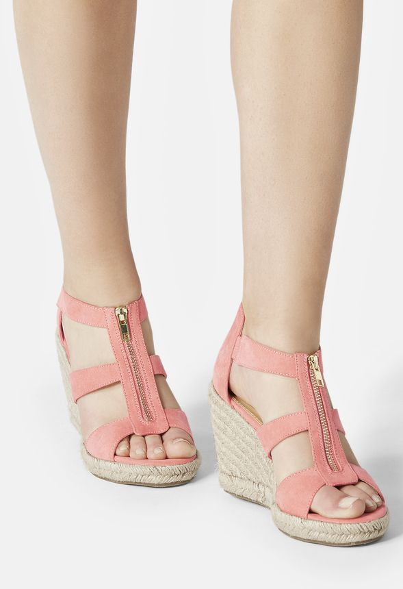 51ff193ec3a Karsey Wedge in Coral - Get great deals at JustFab