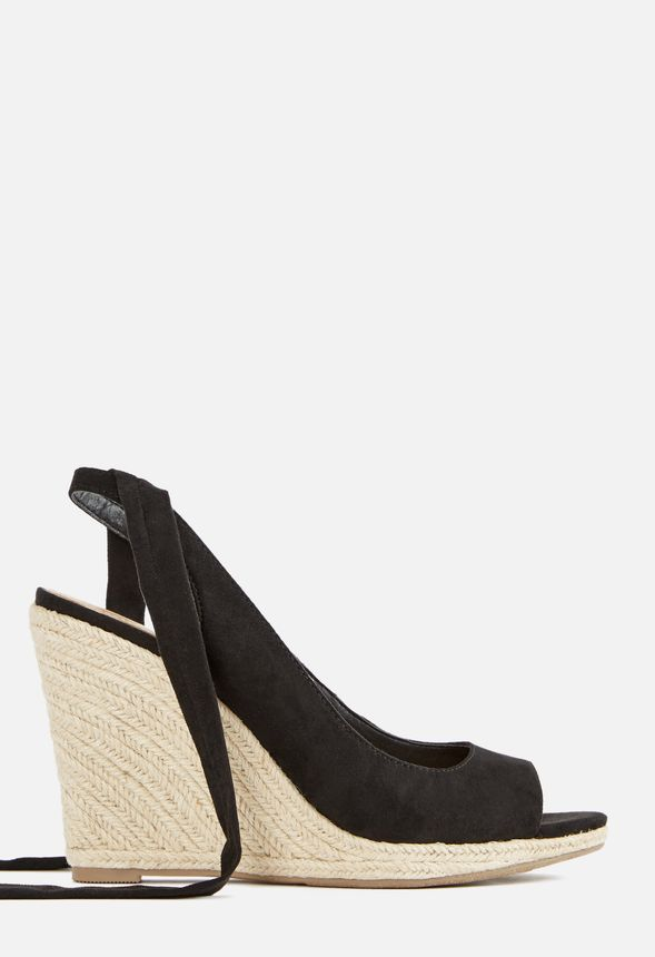 e549f85045af Karuna Ankle Tie Espadrille Wedge In Black Get Great Deals At Justfab