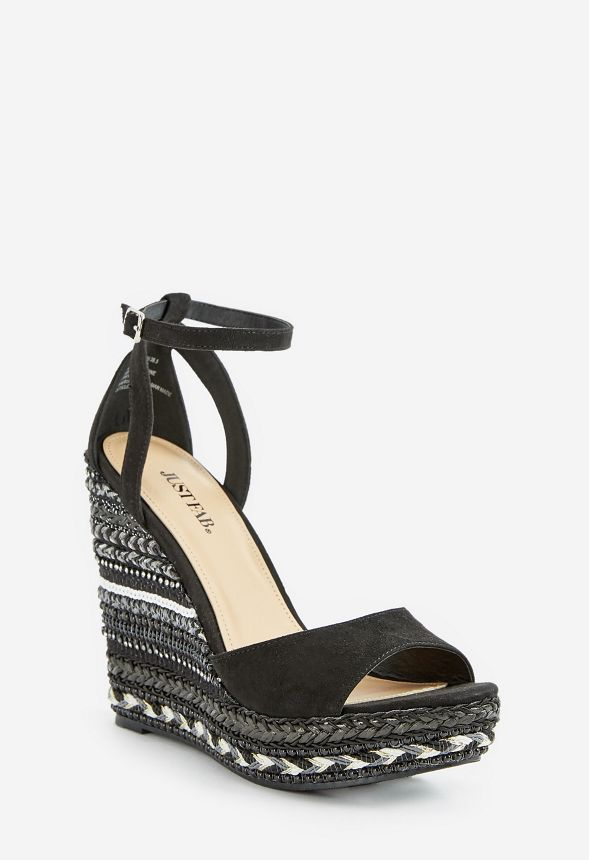 c841e67881c6 Kasabi Striped Wedge in Black - Get great deals at JustFab