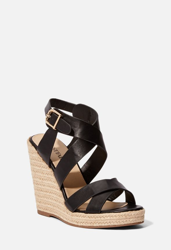 eb06c08620d Joan Espadrille Wedge in Black - Get great deals at JustFab