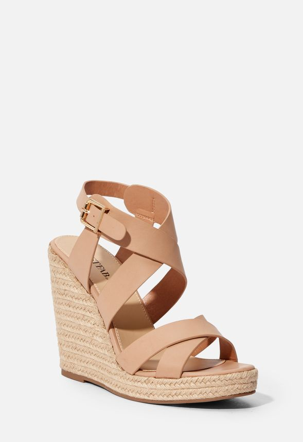 51fa17af3a9 Joan Espadrille Wedge in Blush - Get great deals at JustFab