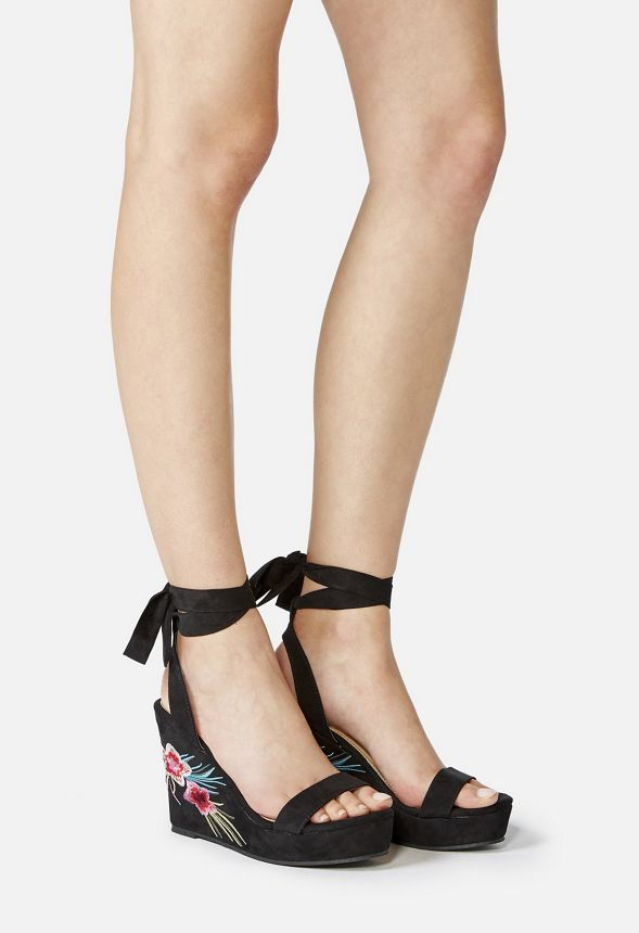 4692c47ffb6 Trina Wedge Sandal in Black - Get great deals at JustFab